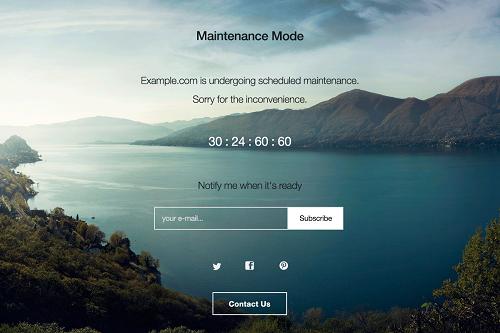 「WP Maintenance Mode」の使い方